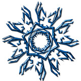 spider like snowflake poster