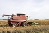 corn combine poster