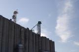 grain elevators against the sky poster