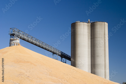 corn at the grain elevator