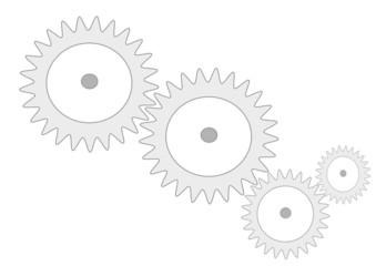 connected cogwheels