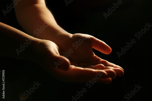 worshiping hands