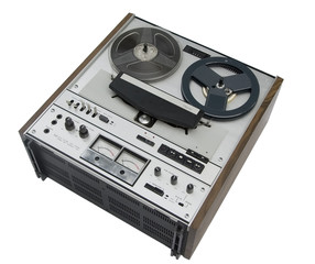 old reel-to-reel tape recorder