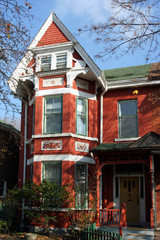 victorian house with peaked roof