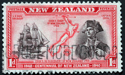 new zealand centennial stamp