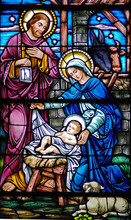 Barwione szkło Narodzenia wdowa