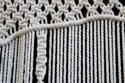 Поначалу меня приучила к этому плетению мать, а позже я уже в садике была активисткой макраме.  Даже в.