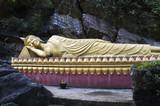 reclining buddha of luang prangbang poster