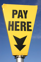 car park pay here sign