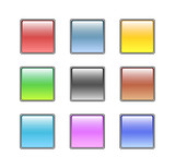 various colorful glass/aqua style web buttons poster
