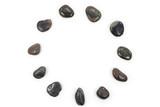 round black pebbles frame poster