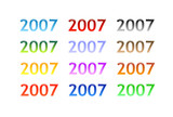 various colorful glass/aqua devices - 2007 poster