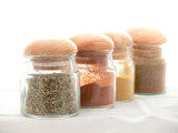 jars with spices poster