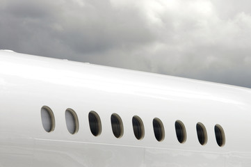 white fuselage