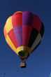 hot air balloon with vivid color