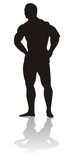 silhouette of bodybuilder poster