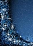 christmas blue magic frame poster
