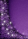 christmas violet magic frame poster