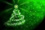 christmas tree . green magic light poster