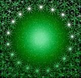 christmas green magic frame poster