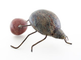 dung beetle sculpture poster