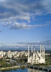 blue sky mosque