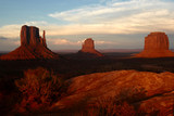 monument valley at sunset, arizona poster