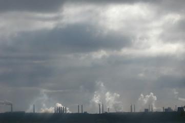 industrial landscape on horizon.
