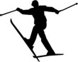skiing silhouette