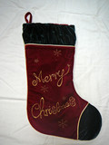 merry christmas stocking poster