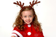 christmas reindeer girl