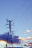 power lines and tower poster