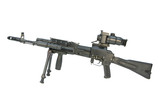 kalashnikov submachine gun with optical sight poster
