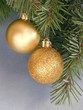 golden tinsels for christmas-tree