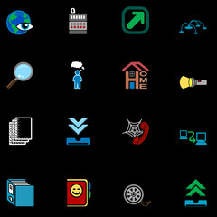 web and computing icons series set