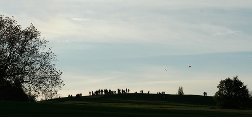 silhouette on kite hill