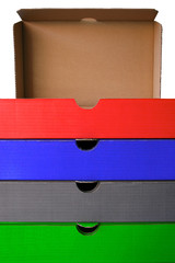 colored filing boxes