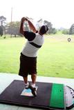driving range golfer poster