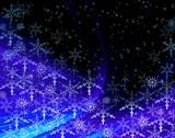 christmas blue fantasy poster