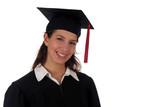 female graduate poster
