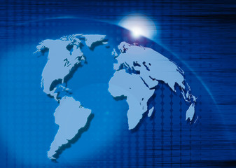 illustration of world for business and industry