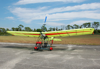 ultralight airplane on the ground