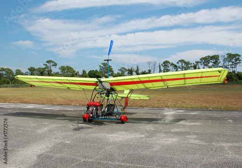 ultralight airplane on the ground - 1772576