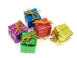 five colorful gifts