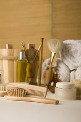 brushes and beauty products