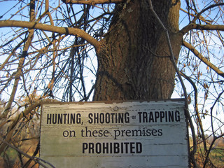 hunting prohibited