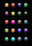 various glass/aqua style web - isolated on black poster