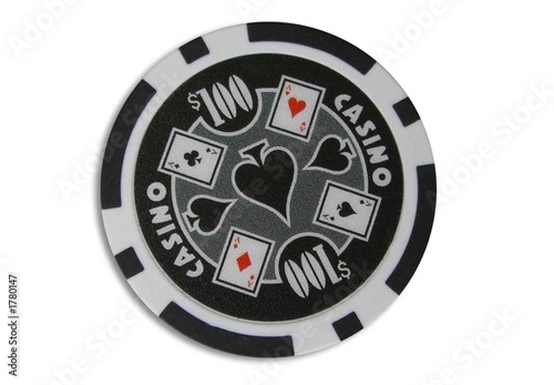 100 dollar poker chip