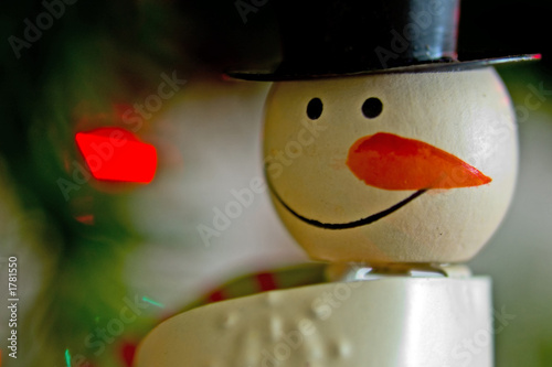 painted snowman face
