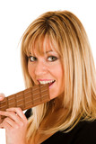eating chocolate poster